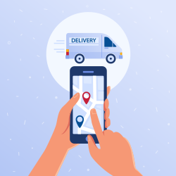 Delivery person GPS systems