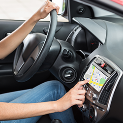 Vehicle tracking systems for rental cars